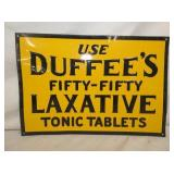 15X10 EMB. DUFFEES LAXATIVE SIGN