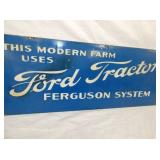 VIEW 2 CLOSEUP FORD TRACTOR SIGN