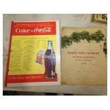 1942 COKE ADV. HOMES/FLOWERS, ADV. PAD