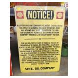 24X35 SHELL NOTICE METAL SIGN