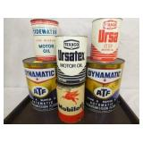 MOBILOIL, TIDE WATER, TEXACO OIL CANS