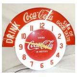 36X31 DRINK Coca Cola NEON CLOCK