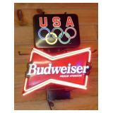 USA BUDWEISER NEON