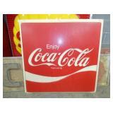 48X48 Coca Cola PLASTIC SIGN