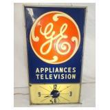 14X25 LIGHTED GE TV APPLIANCES CLOCK