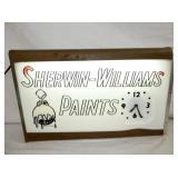 25X15 LIGHTED SHERWIN WILLIAMS CLOCK