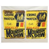 20X28 CRIME WATCH BY MT. DEW SIGNS