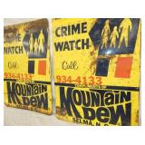 VIEW 2 CLOSEUP CRIME WATCH SIGNS