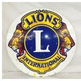 30IN PORC. LIONS INTERNATIONAL SIGN