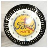 FORD PARTS PINWHEEL CLOCK