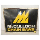 18X24 MCCULLOCH CHAIN SAWS SIGN