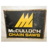 VIEW 2 OTHERSIDE MCCULLOCH SAWS SIGN