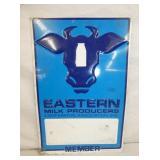 12X18 EMB. EASTERN MILK SIGN W/ COW