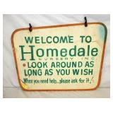 31X22 WOODEN HOMEDALE SIGN