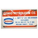 18X36 PORC. SOHIO PETROLEUM SIGN