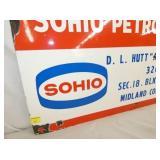 VIEW 2 CLOSEUP SOHIO PORC. SIGN