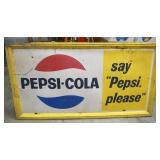 66X36 PEPSI COLA PLEASE SIGN