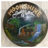 36IN HANDPAINTED MOONSHINE BUTTON