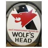 VIEW 2 CLOSEUP WOLFS HEAD SIGN