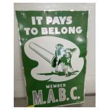 12X18 MEMBER MABC REFLECTOR SIGN