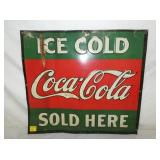 21X19 ICE COLD COKE SOLD HERE SIGN