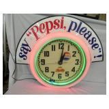 RARE 36X36 PEPSI CLEVELAND CLOCK