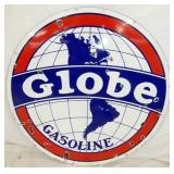 42IN PORC. GLOBE GASOLINE SIGN