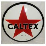 48IN PORC. CALTEX SIGN