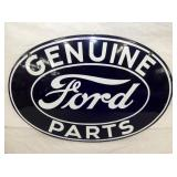24X16 ORIG. PORC. FORD PARTS SIGN