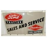60X36 PORC. FORD TRACTOR DEALER SIGN