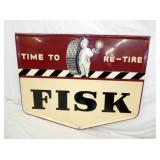 52X41 1946 EMB. FISK TIRES SIGN