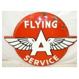 56X43 PORC. EMB. FLYING A SERVICE SIGN
