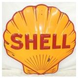 4FT. EMB. PORC. CLAM SHELL SIGN