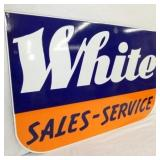 VIEW 2 PORC. WHITE SALES DEALER SIGN