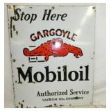 16X24 PORC. MOBILOIL SERVICE SIGN
