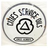 4FT. PORC. CITIES SERVICE OIL SIGN