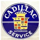 48IN PORC. CADILLAC SERVICE DEALER SIGN