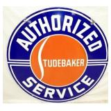 48IN PORC. STUDEBAKER SERVICE SIGN