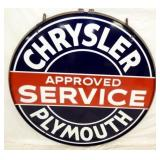 48IN PORC. CHRYSLER PLYMOUTH SERVICE