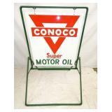27X30 PORC. CONOCO MOTOR OIL SIDEWALK