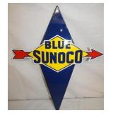 18x22 PORC. BLUE SUNOCO PUMP SIGN