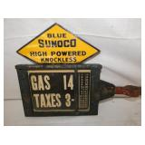 VIEW 3 OTHERSIDE RARE SUNOCO PUMP SIGN
