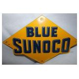 12X8 PORC. BLUE SUNOCO PUMP SIGN