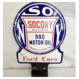 8X12 PORC. SOCONY MOTOR OIL PUMP SIGN