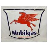 58X56 1946 PORC. MOBILGAS SIGN