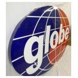 VIEW 2 CLOSEUP PORC. GLOBE SIGN