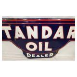 VIEW 4 EMB. STANDARD OIL DEALER SIGN