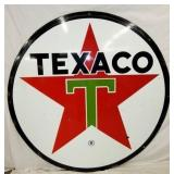 6FT. PORC TEXACO SIGN