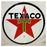 VIEW 2 OTHERSIDE 6FT. TEXACO PORC. SIGN