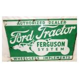 64X40 PORC. FORD TRACTOR FERGUSON SIGN